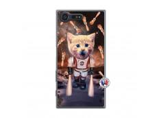 Coque Sony Xperia X Compact Cat Nasa Translu