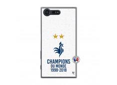 Coque Sony Xperia X Compact Champion Du Monde Translu