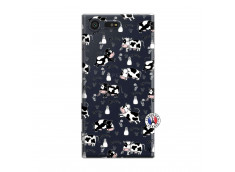 Coque Sony Xperia X Compact Cow Pattern