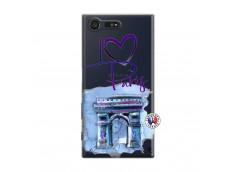 Coque Sony Xperia X Compact I Love Paris Arc Triomphe