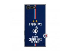Coque Sony Xperia X Compact Je Peux Pas On Est Les Champions Du Monde Translu