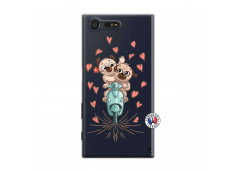 Coque Sony Xperia X Compact Puppies Love