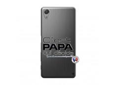 Coque Sony Xperia X Performance C'est Papa Qui Décide Quand Maman n'est pas là