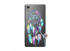 Coque Sony Xperia X Blue Painted Dreamcatcher