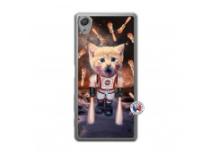Coque Sony Xperia X Cat Nasa Translu