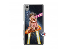 Coque Sony Xperia X Cat Pizza Translu