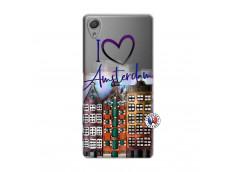 Coque Sony Xperia X I Love Amsterdam