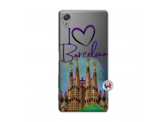 Coque Sony Xperia X I Love Barcelona