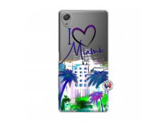 Coque Sony Xperia X I Love Miami