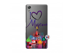 Coque Sony Xperia X I Love Moscow