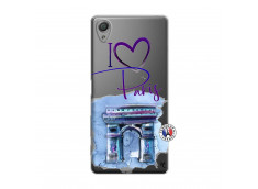 Coque Sony Xperia X I Love Paris Arc Triomphe