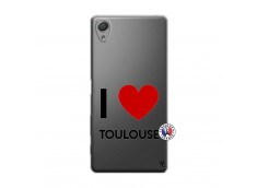 Coque Sony Xperia X I Love Toulouse