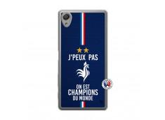 Coque Sony Xperia X Je Peux Pas On Est Les Champions Du Monde Translu
