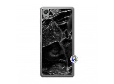 Coque Sony Xperia X Black Marble Translu