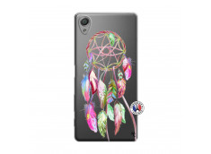Coque Sony Xperia X Pink Painted Dreamcatcher