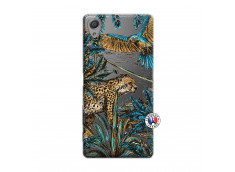 Coque Sony Xperia X Leopard Jungle