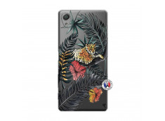 Coque Sony Xperia X Leopard Tree