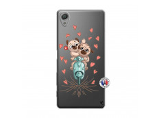 Coque Sony Xperia X Puppies Love
