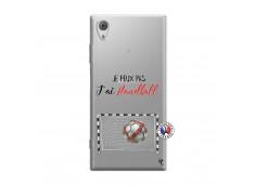 Coque Sony Xperia XA1 Je peux pas j'ai Handball