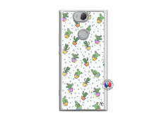 Coque Sony Xperia XA2 Le Monde Entier est un Cactus Translu