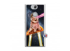 Coque Sony Xperia XA2 Cat Pizza Translu
