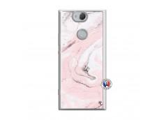 Coque Sony Xperia XA2 Marbre Rose Translu