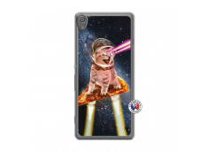 Coque Sony Xperia XA Cat Pizza Translu