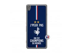 Coque Sony Xperia XA Je Peux Pas On Est Les Champions Du Monde Translu