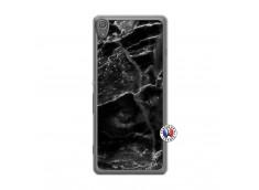 Coque Sony Xperia XA Black Marble Translu