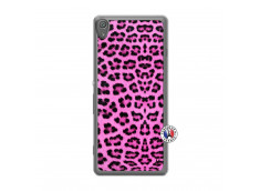 Coque Sony Xperia XA Pink Leopard Translu