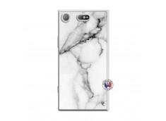 Coque Sony Xperia XZ1 Compact White Marble Translu