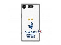 Coque Sony Xperia XZ1 Champion Du Monde Translu