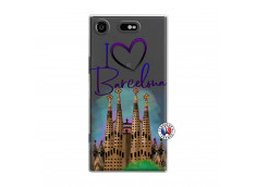 Coque Sony Xperia XZ1 I Love Barcelona