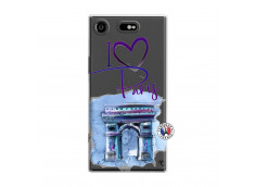 Coque Sony Xperia XZ1 I Love Paris Arc Triomphe