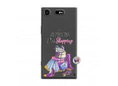 Coque Sony Xperia XZ1 Je Peux Pas J Ai Shopping
