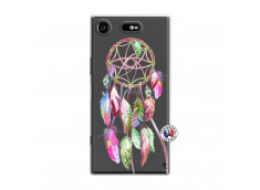 Coque Sony Xperia XZ1 Pink Painted Dreamcatcher