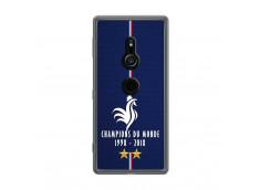 Coque Sony Xperia XZ2 Champions Du Monde 1998 2018 Transparente