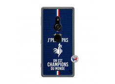Coque Sony Xperia XZ2 Je Peux Pas On Est Les Champions Du Monde Translu
