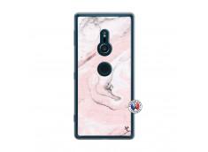 Coque Sony Xperia XZ2 Marbre Rose Translu