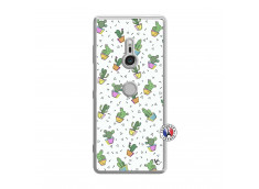 Coque Sony Xperia XZ3 Le Monde Entier est un Cactus Translu