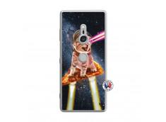 Coque Sony Xperia XZ3 Cat Pizza Translu