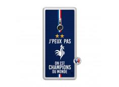 Coque Sony Xperia XZ3 Je Peux Pas On Est Les Champions Du Monde Translu