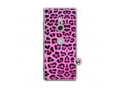 Coque Sony Xperia XZ3 Pink Leopard Translu