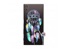 Coque Sony Xperia XZ Blue Painted Dreamcatcher