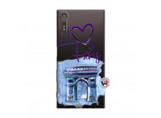 Coque Sony Xperia XZ I Love Paris Arc Triomphe