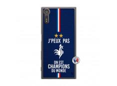 Coque Sony Xperia XZ Je Peux Pas On Est Les Champions Du Monde Translu