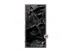 Coque Sony Xperia XZ Black Marble Translu