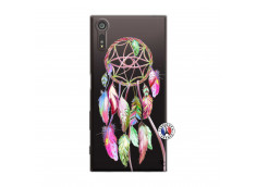 Coque Sony Xperia XZ Pink Painted Dreamcatcher