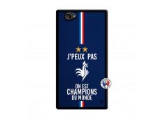 Coque Sony Xperia Z1 Compact Je Peux Pas On Est Les Champions Du Monde Noir