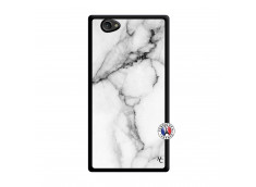 Coque Sony Xperia Z1 Compact White Marble Noir